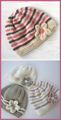 Emilie Baby Hat - Knitting Pattern History of Knitting Yarn rotating, weaving and sewing careers such as for example BC. Baby Boy Knitting Patterns, Baby Hats Knitting, Crochet Baby Hats, Knitting For Kids, Crochet Beanie, Free Knitting, Knitting Projects, Crochet Projects, Knitted Hats