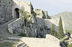 Entrance of the Fortress of Klis - the fortification that controlled the entrance into Dalmatian territory from the North - first capital of Croatia until the times of Ottoman wars