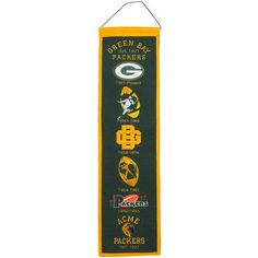 Green Bay Packers Heritage Banner at the Packers Pro Shop http://www.packersproshop.com/sku/4101214031/