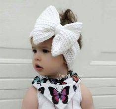 Embroidery for Beginners & Embroidery Stitches & Embroidery Patterns & Embroidery Funny & Machine Embroidery Crochet Hair Bows, Crochet Hair Accessories, Crochet Kids Hats, Crochet Girls, Crochet Baby Clothes, Crochet Hair Styles, Knit Headband Pattern, Knitted Headband, Knitted Hats