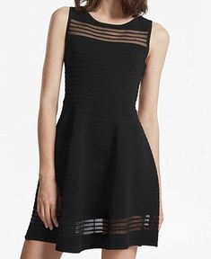acafbbad3d9 French Connection Illusion Fit   Flare Dress Women - Dresses - Macy s