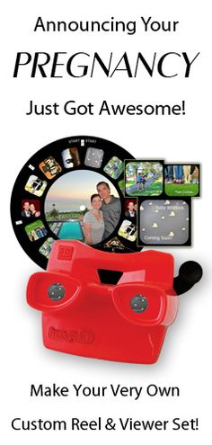 Announcing your pregnancy just got awesome with a custom Reel and Viewer Set. You can make your very own as a fun way to surprise friends and family with the big news! Pregnancy Tips, Pregnancy Photos, Early Pregnancy, Pregnancy Announcements, Surprise Baby, Get Baby, Everything Baby, Maternity Pictures, Baby Fever