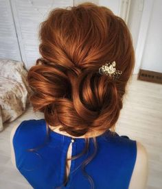 Tonya Pushkareva Long Wedding Hairstyle for Bridal via tonyastylist / http://www.himisspuff.com/long-wedding-hairstyle-ideas-from-tonya-pushkareva/20/