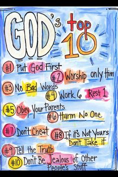 The Ten Commandants fro a Child's Perspective.