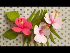 How To Make A Felt Hibiscus Flower - YouTube
