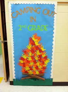 New classroom door decorations animals camping theme Ideas Camping Snacks, Camping Activities, Camping Crafts, Camping Beds, Camping Signs, Diy Camping, Tent Camping, Campsite, Outdoor Camping