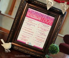 20 Things To Do for Valentines Day! {free printable} ~  Wondering what to do for valentines?  There are so many fun things to do, craft, give, and receive!  Here are 20 fun and festive Valentines Day activities to do to celebrate love.  Print out this adorable free printable and pop it into a frame as a gift, Valentine decor, or reminders for fun family activities!