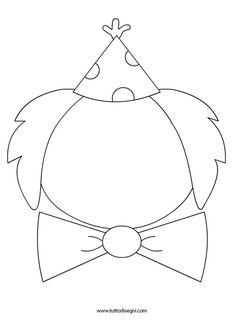 Scheda didattica carnevale - Completa il disegno - TuttoDisegni.com Clown Crafts, Circus Crafts, Carnival Crafts, Kids Carnival, Circus Clown, Circus Theme, Kids Art Class, Art For Kids, Preschool Crafts