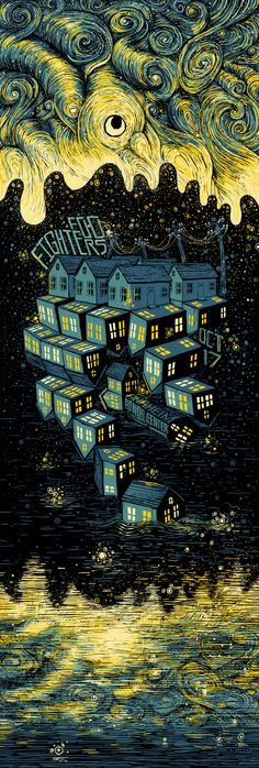 Swirling Illustrations by James R. Eads foofighters_final