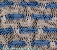 Belted Stripes - Knittingfool Stitch Detail