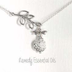 These stunning dragonfly connector aromatherapy diffuser necklaces are now up in the store. Customize them by adding your favourite colour Swarovski Crystal, or even changing the charm!