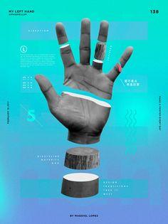 """Un póster al día, por Madgiel López """"My left hand""""."""