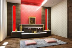 A custom made home program which enables you to fully design your house whilst keeping the structure simple to keep costs down. Obviously, it is a bit more complicated with a home, in the majority … Design Your Home, Modern House Design, Home Interior Design, Altar Design, Temple Design, Buddha Decor, Hall Room, Pooja Room Design, Puja Room