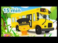Les roues de l'autobus - 15 min de comptines - Méli et Touni - Titounis - YouTube
