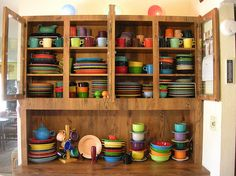 When I have room in my house for a china cabinet it will look like this...full of Fiestaware!