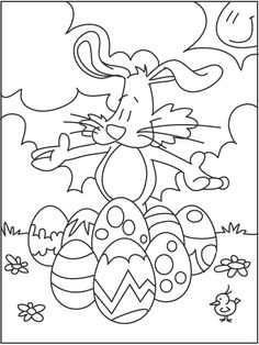 Free Printable Coloring Pages Easter For Kids & Girls Easter Coloring Sheets, Easter Colouring, Colouring Pages, Coloring Pages For Kids, Coloring Books, Free Printable Coloring Pages, Free Printables, Drawing For Kids, Happy Easter