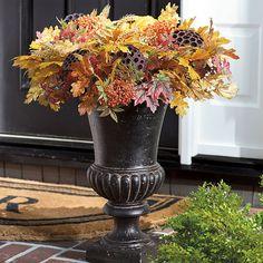Halloween Urn Decorations Captivating Indian Hill Spiral Cone Urn Filler  Grandinroad  Pinterest  Urn Design Ideas