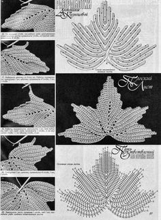 KUFER: MOTYWY IRLANDKI  irish crochet detals. Diagrams to follow. ﻬஐCQஐﻬ…