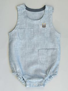 Overall With Hand Embroidered Crab from Poeme & Poesie