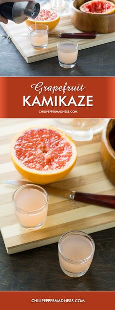 vodka shot made with plenty of freshly squeezed grapefruit, triple ...