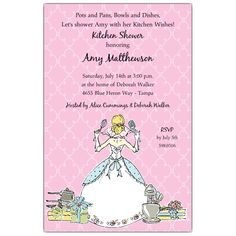 Cooking Up Fun Kitchen Shower Invitations