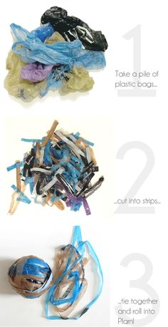 How to make Plarn (plastic yarn)  How did I never think of this one?
