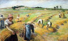 Pissarro, La mietitura, 1882