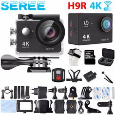 Sports & Action Video Cameras Action Camera Full Hd 1080p Gopro Hero4 Style Wifi 170 Degree Waterproof 30m Sport Camera+aluminum Extendable Pole Stick+bag Promoting Health And Curing Diseases Consumer Electronics