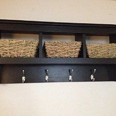 Amazon.com: Cubby Shelf With Coat Hooks: Handmade. Coat Rack With  StorageCoat ...