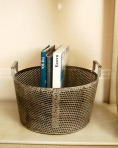 Industrial metal basket