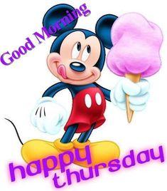 Mickey Mouse Good Morning Happy Thursday
