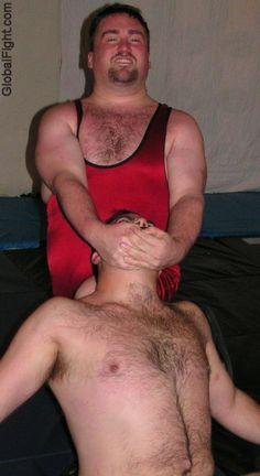wrestling heel squash jobber men fighting