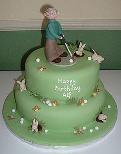 golf cake decorations christening