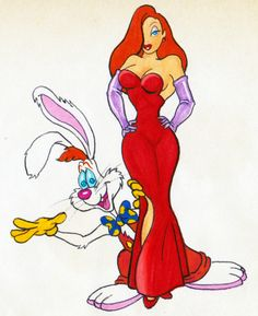 Jessica and Roger Rabbit....possible costume idea for Ryan and I