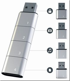 Amoeba Modular USB Flash Drive Concept