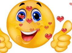 The perfect Smiley ThumbsUp Heart Animated GIF for your conversation. Discover and Share the best GIFs on Tenor. Animated Smiley Faces, Free Animated Gifs, Funny Emoji Faces, Animated Emoticons, Funny Emoticons, Love Smiley, Smiley Happy, Emoji Love, Kiss Emoji