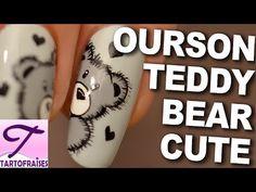 Tuto nail art Ourson Teddy Bear super cute - YouTube