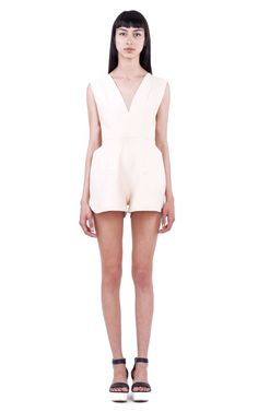 SHELL ROMPERS FRONT Fashion Portfolio, Ready To Wear, Overalls, Shell, Rompers, Spring, Sleeves, How To Wear, Dresses