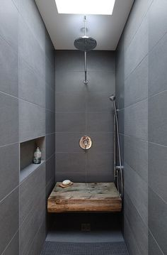 NO CURB dot com ( Linear Shower Drains and Barrier Free Bathrooms ): What a great shower.