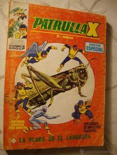 COMIC TACO VERTICE MARVEL MUNDI COMICS PATRULLA X LA PLAGA DE EL LANGOSTA AÑO 1974 - RQ