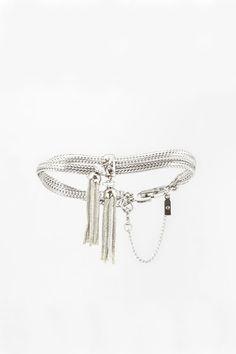 60's Monet Silver Tassel Bracelet by @SweetnSpark on Etsy