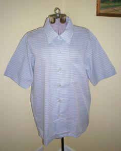 Excellent Unused Vintage Men's Golden Key Dress Shirt Sz L 16-16 1/2 Poly/Cotton