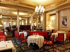 Our last hotel stay in Paris - before we rented an apartment there.  Le Grand Hotel in Paris, Cafe de la Paix.  Wonderful food and gorgeous Parisian atmosphere.