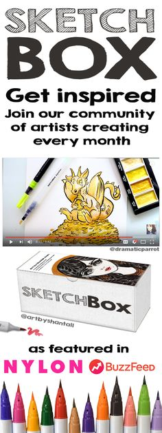 Commit to creativity and try unique art supplies delivered monthly right to your door. Each box includes an inspirational piece of art made with the supplies by our featured artist.