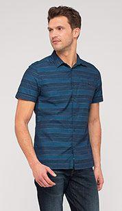 Stripe shirt in dark blue