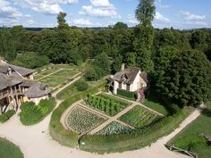 Some amazing aerial views of Marie Antoinette's hamlet at the Palace of Versailles.