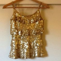SALE - Gold beaded top with beaded skirt This is a great outfit for a night out and about. Tops