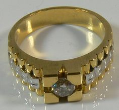 Gentlemen ring, 750er gold, 14.9 g, with diamonds, approximate 0, 7 ct, ring size 67. manual operation - unique.  Dealer Leininger Auktionsh...
