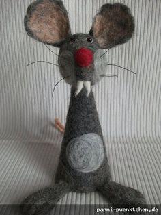 Eierwärmer Ratte aus Filz