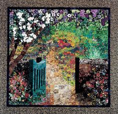 Fusing/Fabric Painting to Create a Realistic Art Quilt by Lenore Crawford Fabric Painting, Fabric Art, Fabric Design, Painting Art, Watercolor Quilt, Landscape Art Quilts, Landscapes, Types Of Art, Quilting Projects